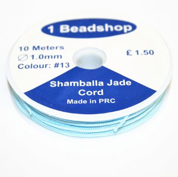 Light Blue 13 10 Metres x 1.0mm Jade Cord JSC-10-1.0-13 / S.B